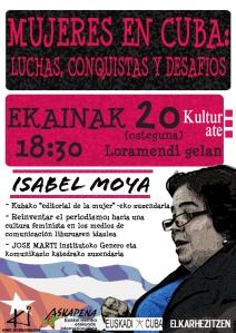Isabel Moya hitzaldia